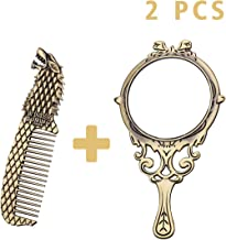 AOCOCO Game Of Thrones Themed Bronze Comb And Bronze Makeup Mirror(Mirror + Comb)