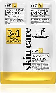 Sponsored Ad - ArtNaturals Skin Care Face Mask Scrub & Toner (3 in 1 Set) Brown Sugar Scrub, Rejuvinating Facial Mask & Wi...