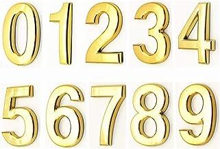 3D Numeral Deur Plaque House Lade Sign Gate Digits 0 tot 9 ABS-nummer Tag Hotel Home Sticker Adresdeur Label Digitaal Huis...