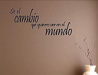 Vinyl Quote Me Sé cambio que quieres ver en el Mundo Spanish Vinyl Wall Saying Quote Words Decal