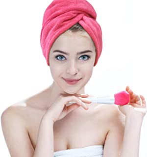 Hairizone Hair Towel Super Absorbente Microfibra Turbante de Secado rápido para niñas, Rose