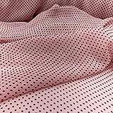 kawenSTOFFE Chiffonstoff Rosa mit roten Punkten sommerlich