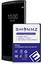 [Upgraded] LG V10 Battery,4200mAh SHENMZ Replacement BL-45B1F Battery Li-Ion Battery for LG V10 BL-45B1F VS990 (Verizon), H900 (AT&T),H901(T-Mobile), H961N | LG V10 Spare Battery