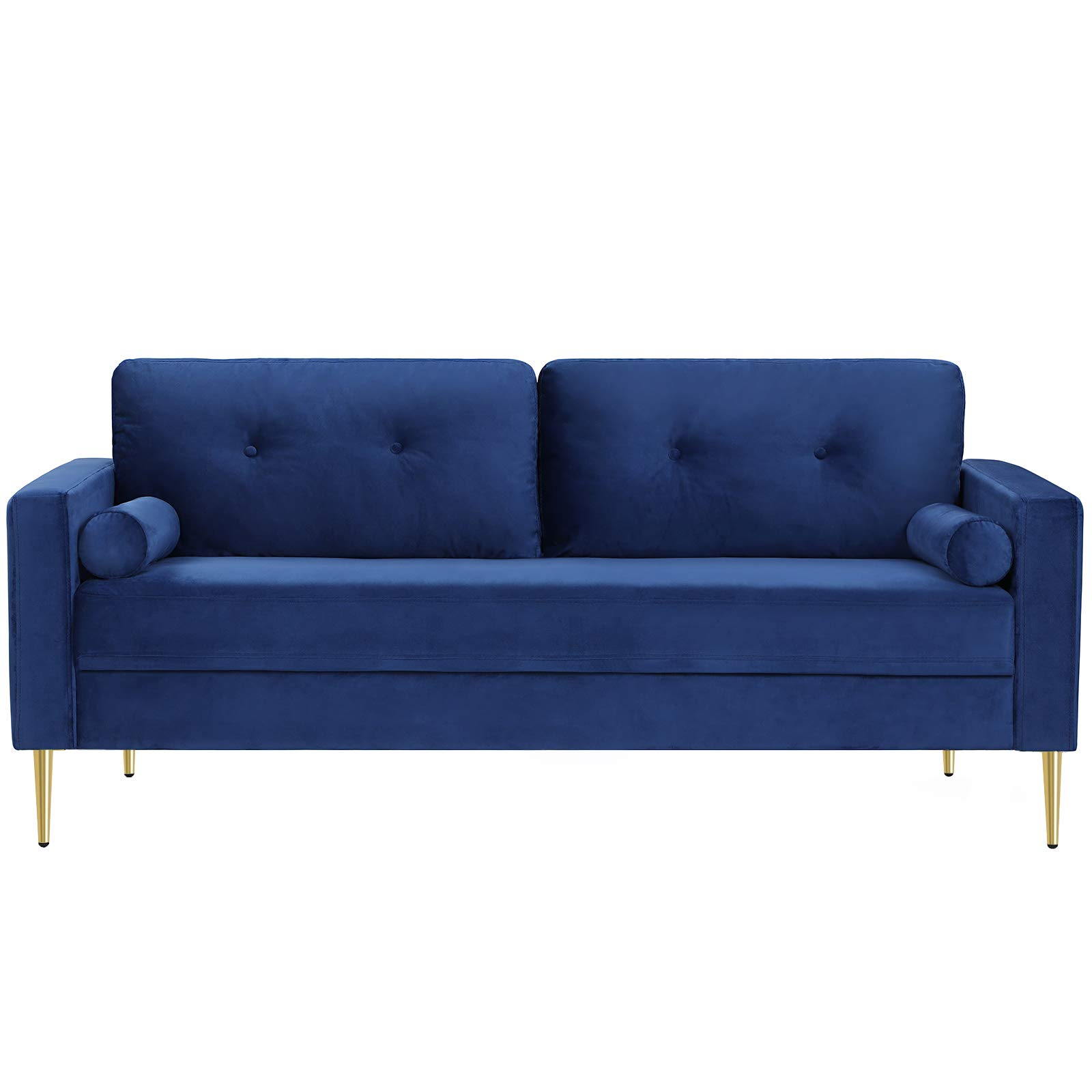 VASAGLE Velvet Sofa, Couch for Living Room, for Apartment, Small Space, Solid Wood Frame, Metal Legs, Easy Assembly, Mid-C...