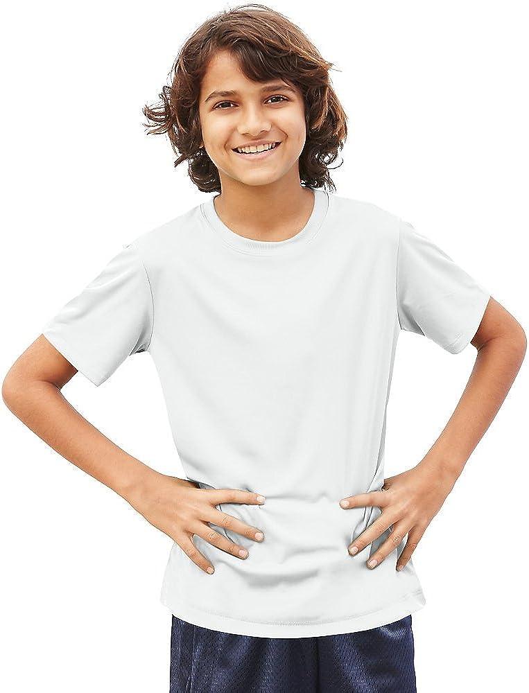 Hanes Cool DRI Boys' T-Shirt_White_S