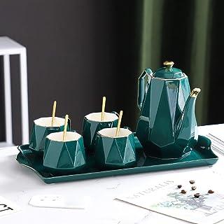 TNSYGSB Thé Ensemble de thé théière théière en céramique Théière à thé Cafe Tasse Teaware Tasse à café Tasse à thé Teascup...