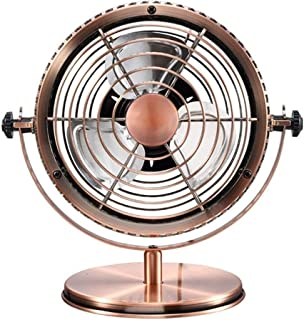 Table Fan Portable Desk USB Fan, Air Cooling Fan Vintage USB Mini Fans Ultra Quiet, Two Speed Adjustment for Home Desktop Fan