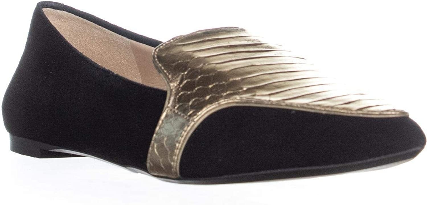 DKNY Womens Dara Pointed Toe Embossed Fashion Loafers