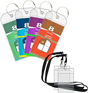 Cruise Luggage Tags Suitcase Labels 4 Pack Cruise Tags & 2 Cruise Lanyard ID Holder Zip Seal and Reusable Steel Loops