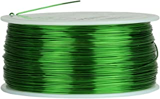 TEMCo 24 AWG Copper Magnet Wire - 1 lb 791 ft 155°C Magnetic Coil Green
