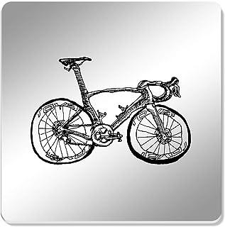 seitliche Spiegel Rueckspieg CD 2 Stueck Schwarz Gehaeuse Kunststoff Fahrrad