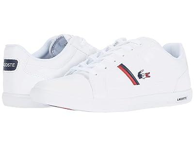 Lacoste Europa TRI 1 (White/Navy/Red) Men