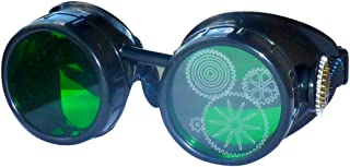 Steampunk Victorian Style Goggles/Rave Glasses with Pocket Watch Gear Design Mad Scientist Costume Accessory