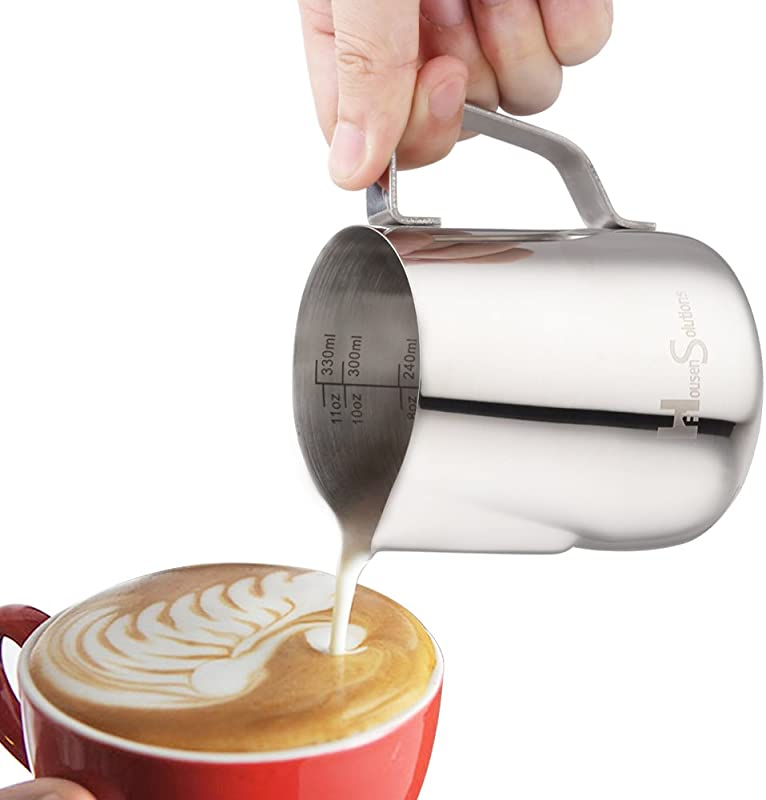 Milk Frothing Pitcher Stainless Steel 304 Steaming Pitcher 12 Oz 350ml Perfect For Espresso Cappuccino Milk Cream