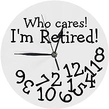 ساعة حائط دائرية من بريتيمس صامتة غير موقوتة 9.5 بوصة لغرفة المعيشة الحمام المطبخ ديكور المدرسة رقم للاهتمام التقاعد