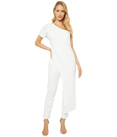 Adrianna Papell Asymmetrical Crepe Jumpsuit (Ivory) Women