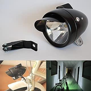 Goodkssop 180lm Bright Retro Bicycle Bike Cycling LED Headlight Fog Safety Spot Light Lamp Black