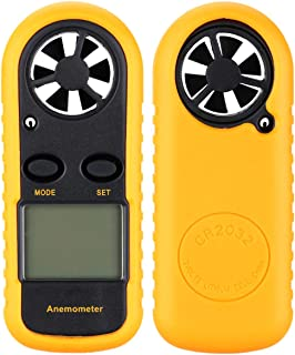 2TRIDENTS Portable Anemometer Handheld Wind Speed Meter Measuring Wind Speed Air Flow with Monitor Field