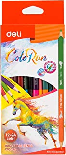 Deli 1Set/12Pcs 24 Colors School Colored Pencil Student Children's Art Painting Graffiti Student Stationery