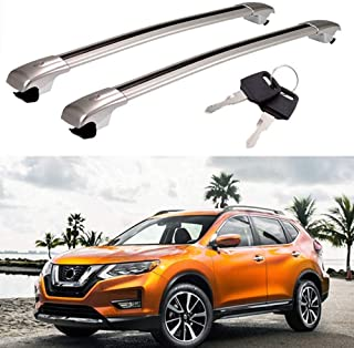 MotorFansClub Cross Bars Roof Racks, Cargo Carrier Luggage Rack for 2014 2015 2016 2017 2018 2019 Nissan Rogue, Crossbars Cargo Max Load 220 LBS
