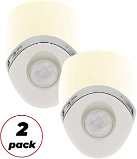 Amerelle Motion Sensor Night Light, 2 Pack – Plug In Motion Sensor Light Automatically Activated When Movement is Detected – LED Lights, Saves Energy, Wide Detection Zone – White Finish, 73092CC