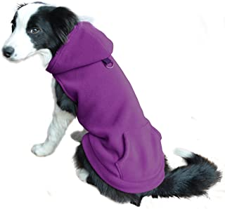 EXPAWLORER Fleece Dog Hoodies with Pocket, Cold Weather Spring Vest Sweatshirt with O-Ring