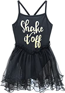 Weixinbuy Kids Girls Ballet Tutu Leotard Bodysuit Dance Braces Skirts