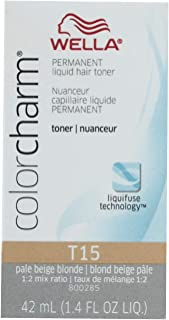 Wella Color Charm Liquid Toner T15 Pale Beige Blonde 41ml