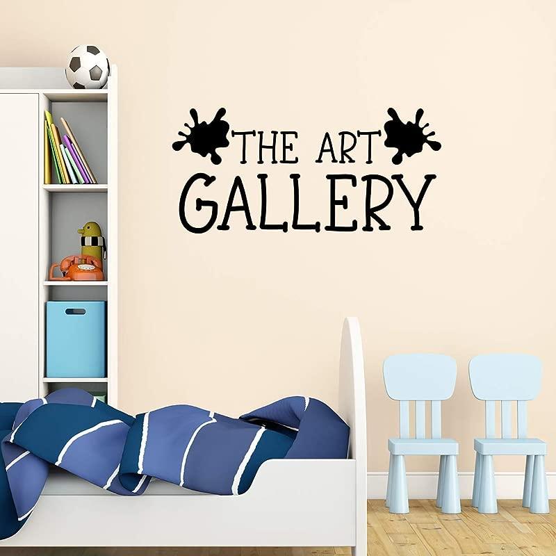 Basicor The Art Gallery Wall Decal Children Artwork Display Decor Kids Artwork Sticker Y4