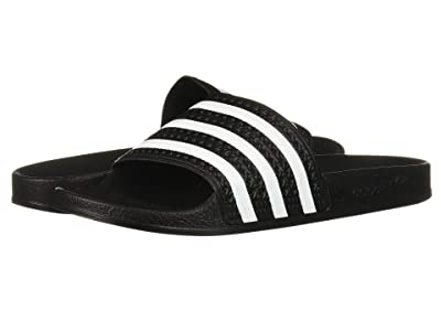adidas Originals Kids Adilette (Little Kid/Big Kid) (Core Black/Footwear White/Core Black) Kids Shoes