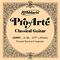 D'Addario ダダリオ クラシックギター用バラ弦 プロアルテ A-5th J4505C Composites 【国内正規品】