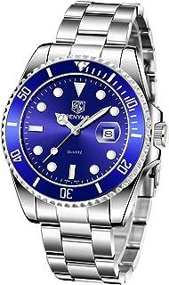 BENYAR Montre Homme Quartz Analogique Cadran Minimaliste Étanche 30M La Mode Watch Bracelet en Acier Inoxydable Elégant Ca...