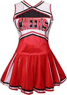 Womens Cheerleader Costume Uniform Fancy Dress