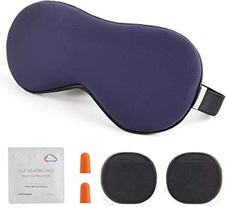 alittlecloud Sleep Mask,3D Contoured Eye Mask with Breathable Memory Foam for Travel/Naps/Shiftwork,Light Blockout & No Pressure with Adjustable Strap for Men,Women,Navy Blue