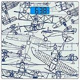 Escala digital de peso corporal de precisión Square Avión Báscula de baño de...