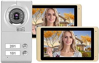 Touch Screen Door Bell, 720P Video 2 Monitors 64g Memory Card Door Phone, for Home Security System Portrait(Australian reg...