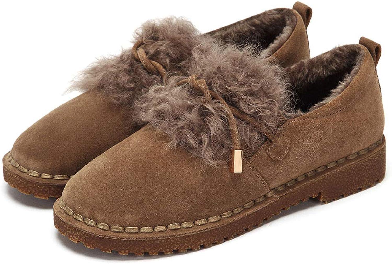Woherrar skor Mode Mode Mode sammet Booslipss gående skor ljus Snow stövlar Slow Motion skor och Handväskor (Färg  bspringaaa, Storlek  40)  kunder först