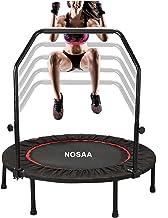 Opvouwbare trampoline, indoor trampoline met draagstang verstelbaar 122 cm trampoline fitness oefening voor volwassenen vo...