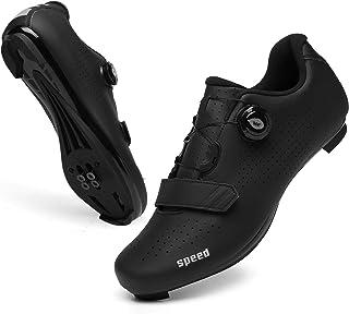 کفش دوچرخه سواری مردانه SANYES دوچرخه جاده ای تنفس کوه دوچرخه کوهستان SPD / SPD-SL سازگار با دوچرخه Peloton دوچرخه کفش داخلی