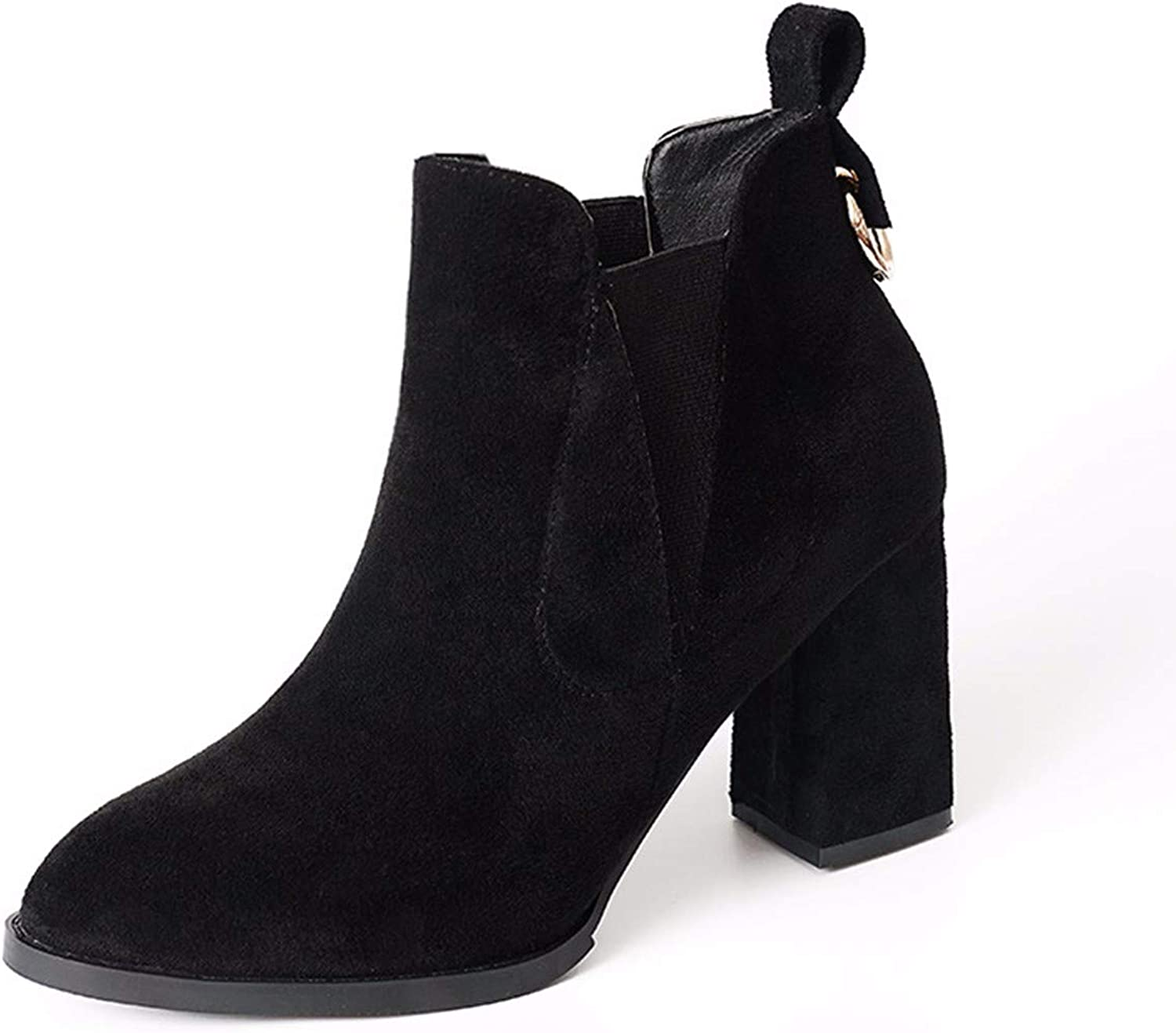QPGGP-boots High and Short Boots, Autumn and Winter, European and American Pointed Women's Heels, High Heels, Short Boots, Elastic Sleeve Women's Boots.