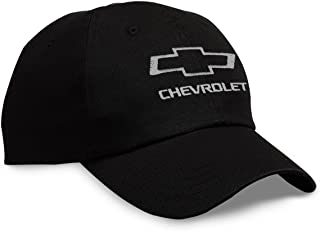 Gregs Automotive Chevrolet Bowtie Hat Cap Black Bundle with Decal (2 Items) 1 Hat and 1 Driving Style Decal