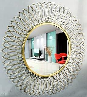 Furnish Craft Iron Wall Mirror (Gold_29 Inch)