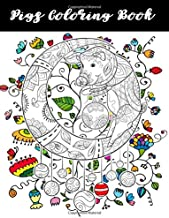 Pigs Coloring Book: Pigs Dogs Cats Sloth Animals Coloring Book, One Sided Stress Relieving, Relaxing Coloring Book For Grownups, Women, Girls & ... Perfect Gifts For Cat Lovers: Volume 2