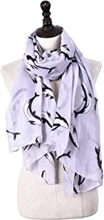 Scarf Balinese Thailand Whale Print Four Seasons Shoulder Street Anti-Cold Cooling Measures Female 6 Color Selection` TuanTuan (Color : Gray)