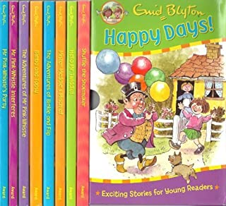 Happy Days! Box Set 8 Books RRP £39.99: Bimbo and Topsy, Hello Mr Twiddle, The Adventures of Binkie and Flip, Mister Meddle's Mischief, Mr Pink-Whistle Interferes, Mr Pink-Whistle's Party, The Adventures of Mr Pink-Whistle, Shuffle the Shoemaker