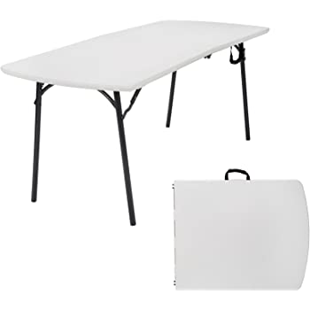 """Cosco Products Diamond Series 300 lb. Weight Capacity Folding Table, 6' X 30"""", White"""