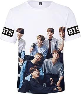 bettydom Girl's Novelty Tee Shirts Kpop BTS Summmer Shirts J-Hope RM Jimin V Jung Kook Show Love for Bangtan Boys