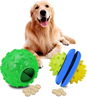ZGSZ Interactive Dog Toys, Dog Chew Toys Ball for Small Medium Dogs, IQ Treat Boredom Food Dispensing, Chasing Puzzle Puppy Pals Tough Durable Rubber Pet Ball, Best Cleans Teeth Dog Balls