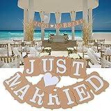 AONER MR & MRS Deko Buchstaben Hochzeit (inkl. Banner JUST Married) Dekobuchstaben Girlande Dekoration (Weiß) - 6
