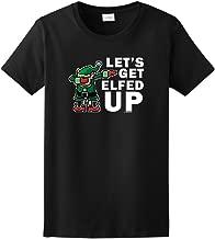 ThisWear Dabbing Santa's Elf Let's Get Elfed Up Ladies T-Shirt